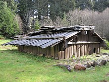 Traditional Yurok Indian Family House At Sumeg Village In Patricks Point State Park Northern California