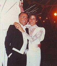 Yves Mourousi et son épouse Véronique lors de leur mariage à Nîmes en 1985.