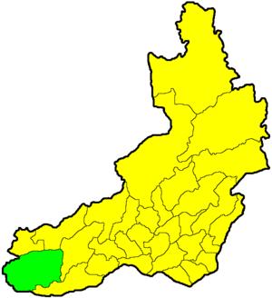 Красночикойский район на карте