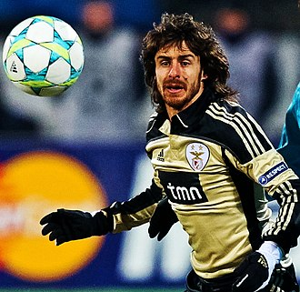 Pablo Aimar - Aimar playing for Benfica in 2012
