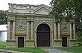 Zespół zamku Radziwiłłów (XVIIw.,XIXw.) (brama z szyją bramną 1696-1701r.) - Biała Podlaska ul. Warszawska woj. lubelskie ArPiCh A-134.JPG