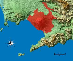 Zona rossa del Vesuvio