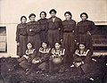 """""""Indian girls dressed for a ball game, U.S. Government Indian exhibit."""" (Fort Shaw Indian School basketball team) 1904 World's Fair.jpg"""