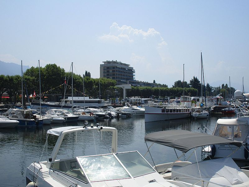 The ships La Savoie and L'Almée moored at Aix-les-Bains on July 17, 2015.