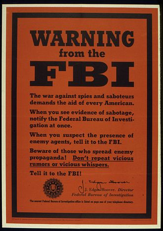 Sabotage - World War II poster from the United States