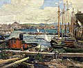 'Gloucester Harbor' by Edward Joseph Holslag, 1919.jpg