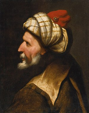 Pietro della Vecchia - Profile of a Barbary Pirate, Traditionally Identified as Barbarossa
