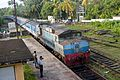 'Ruhunu Kumari' Express train at Aluthgama (5050564693).jpg