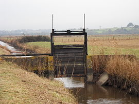 A lock on Frossay Marsh