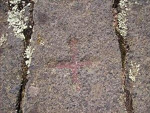 Östergötland Runic Inscription 43 - Image: Ög 43, runsten i Ingelstad, Östra Eneby socken, den 11 juli 2007, bild 7