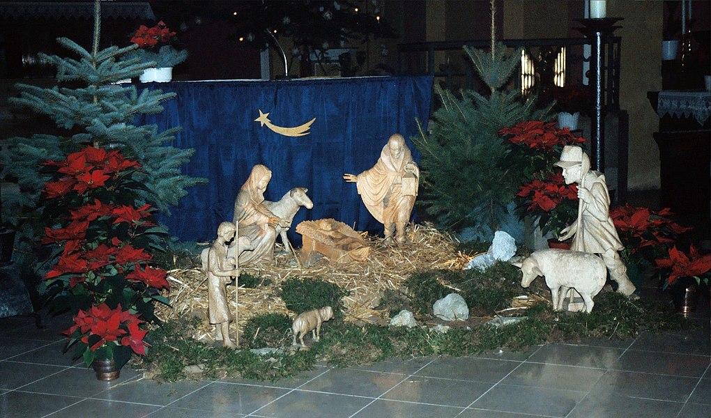 Überherrn, church St. Bonifatius, Christmas crib