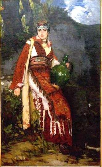 Đorđe Krstić - Image: Đ.Krstić Na izvoru 1882