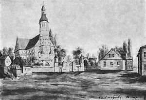 Šiauliai church in 19th c