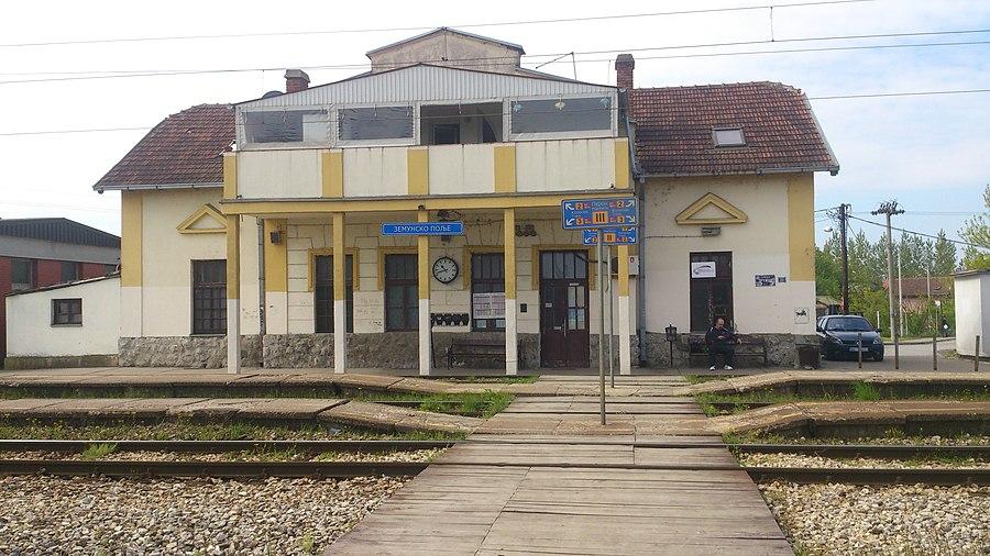 Zemun Polje railway station