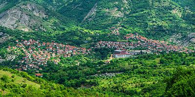 Panorama of Kratovo, Macedonia.