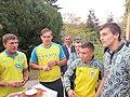 Українські боксери олімпійці - Шелестюк, Усик, Берінчик (позаду), Ломаченко, Гвоздик.JPG