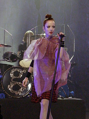 Shirley Manson - Manson performing with Garbage during the band's Not Your Kind of People World Tour in November 2012