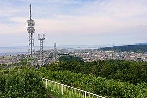 Rumoi, Hokkaido - Panorama view of Rumoi, from Senboudai