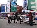 华丽商场前面的牛拉雪爬犁铜像 余华峰 - panoramio.jpg