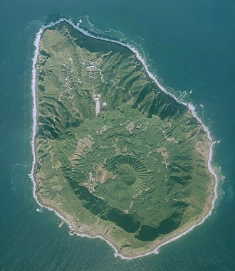 Aogashima - Maruyama is the central cone in the caldera