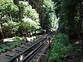 鞍馬山鋼索鉄道 多宝塔駅にて Funicular line in Kurama-dera 2011.8.28 - panoramio.jpg