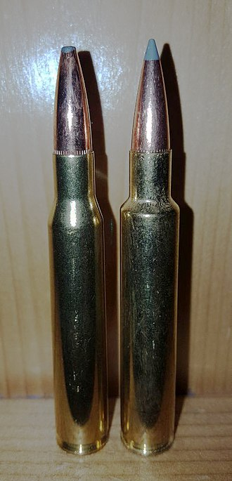 .280 Remington - .280 Ackley Improved on the right