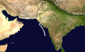 1964 North Indian Ocean cyclone season - Image: 02 A 1964 track