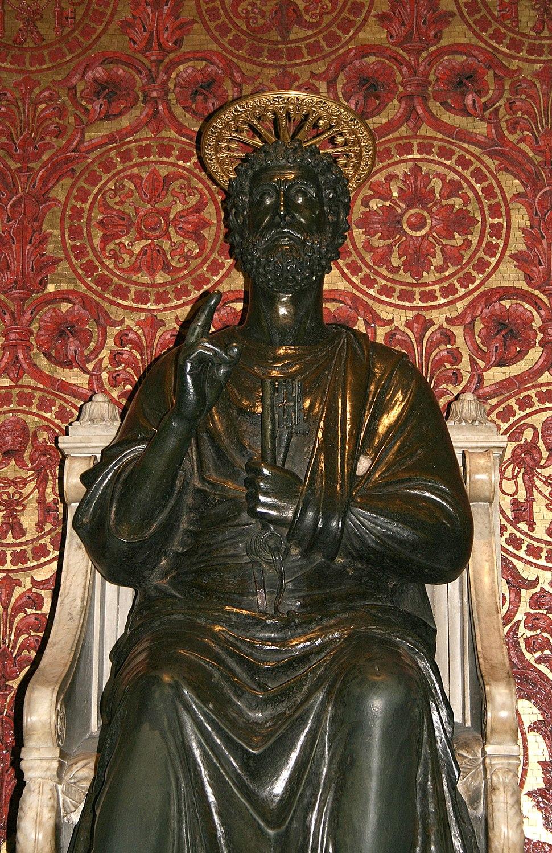 0 Statue de Saint Pierre par Arnolfo di Cambio - Basilique St-Pierre - Vatican (1)