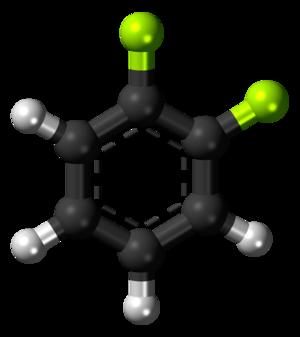 1,2-Difluorobenzene - Image: 1,2 Difluorobenzene 3D balls