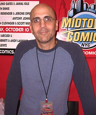 John Arcudi - Arcudi at the New York Comic Con in Manhattan, October 10, 2010.