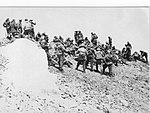 The 100th Separate Airborne Reconnaissance Company on the top of newly conquered VDV Peak of the Pamir Mountains