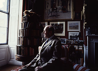 Baron Herbert - Henry Hugh Arthur Somerset, 10th Duke of Beaufort, 18th Baron Herbert at Badminton House by Allan Warren