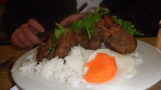 Pig's trotters - Pigs feet on rice