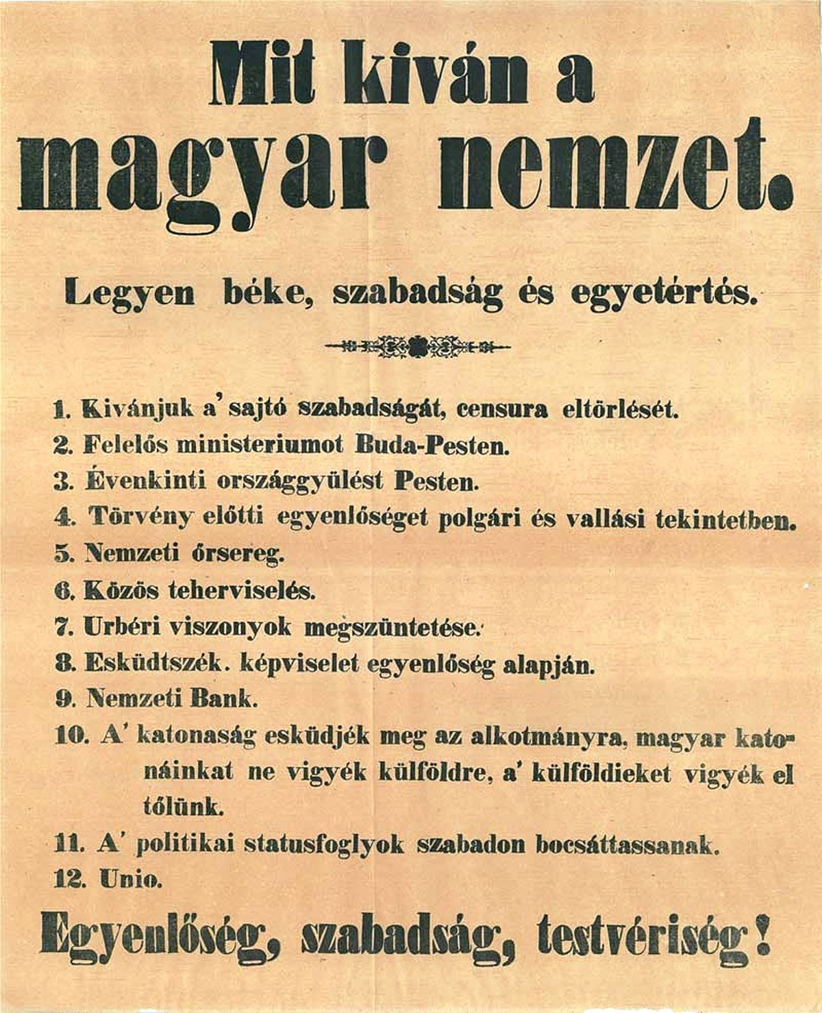 12 points of the Hungarian Rev...