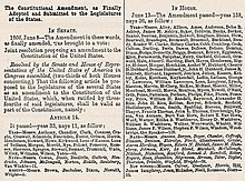 Fourteenth Amendment To The United States Constitution Wikipedia
