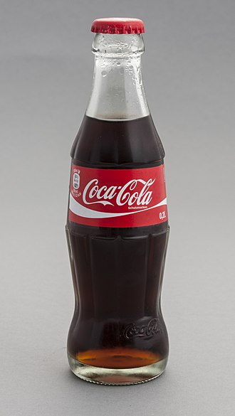 Coca-Cola - Coca-Cola has retained many of its original design features in modern glass bottles