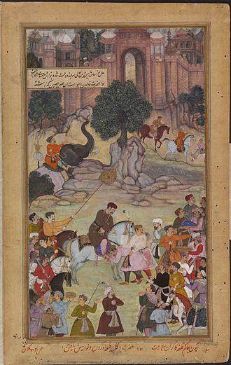 Jhalawar - 1561 - The governor of Gagraun fort surrenders the keys to Akbar.
