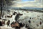 1593 Valckenborch Ansicht von Antwerpen mit zugefrorener Schelde anagoria