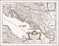 1684 map of the Dalmatian Coastline and the Western Balkan by Giacomo Giovanni Rossi.jpg