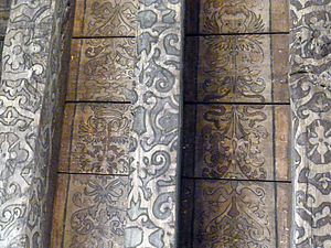 John MacMorran - 16th-century painted ceiling with Imperial eagle and thistle motif at Riddle's court