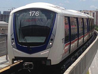 Bombardier Innovia Metro - A Rapid KL Innovia Metro 300 train in KualaLumpur