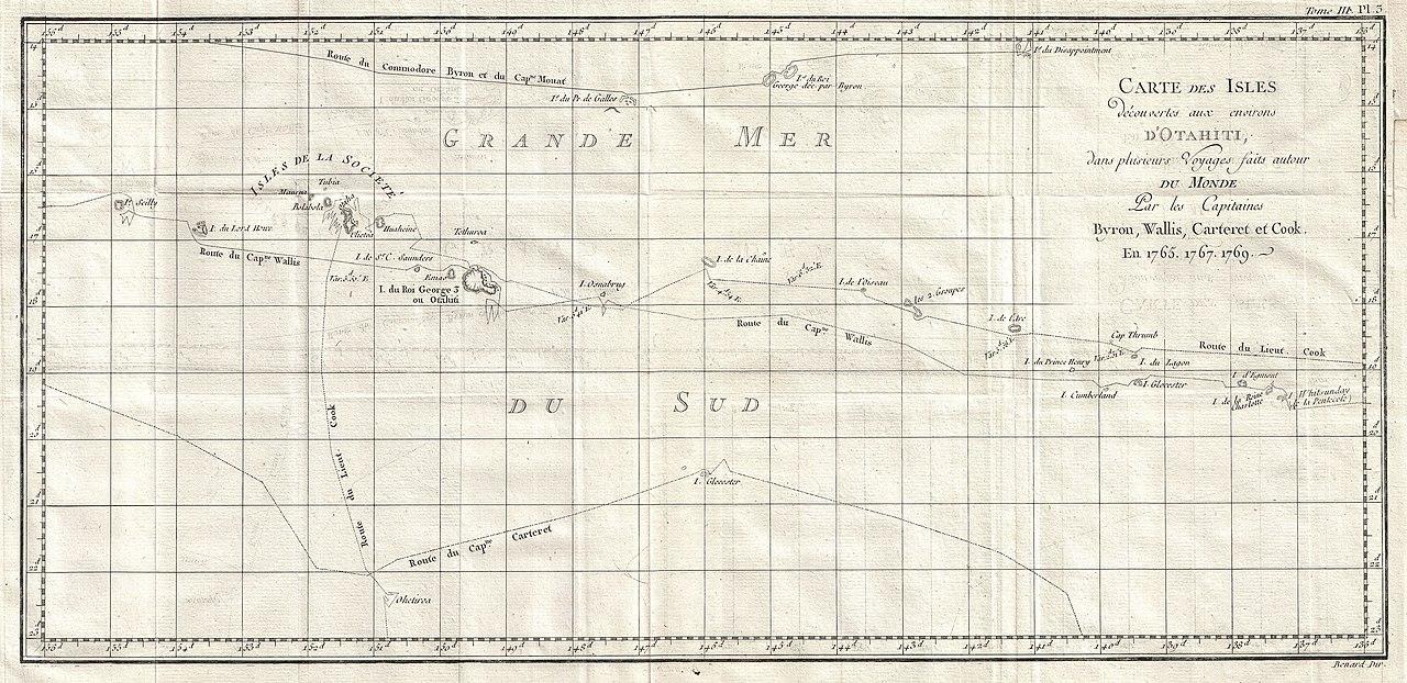 Carte Du Monde Tahiti.File 1769 Cook Map Of Tahiti The Society Islands And The Vicinity