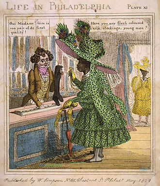 Culture of Philadelphia - Cartoon about African American high society, 1829.