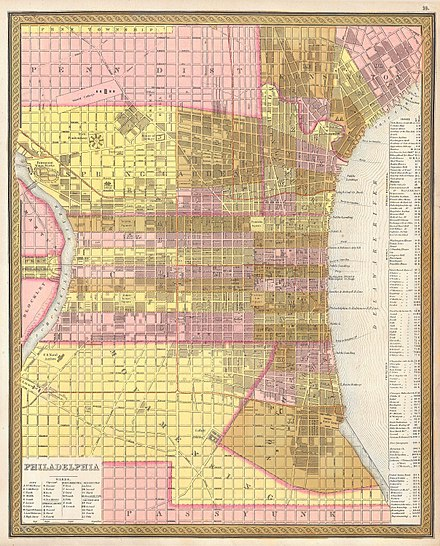 Map of Philadelphia (1846) 1846 Street Map or Plan of Philadelphia, Pennsylvania - Geographicus - Phili-m-1846.jpg