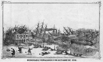 1846 Havana hurricane - Damage in Havana, Cuba, succeeding the hurricane