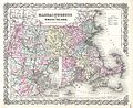 1855 Colton Map of Massachusetts and Rhode Island - Geographicus - Massachusetts-colton-1855.jpg