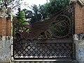 185 Pavellons de la finca Güell, av. de Pedralbes 15 (Barcelona), reixa d'entrada.jpg