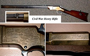 Henry rifle - Image: 1860 Henry Rifle