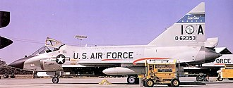 186th Airlift Squadron - 186th FIS TF-102A 56-2353, about 1970