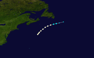 1876 Atlantic hurricane season - Image: 1876 Atlantic hurricane 1 track